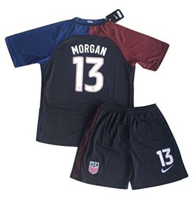 2016-2017-Alex-Morgan-13-KidsYouth-USA-National-Away-Jersey-Shorts-11-13-Year-Old