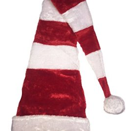 Deluxe Novelty Extra Long Christmas Holiday Santa Hat