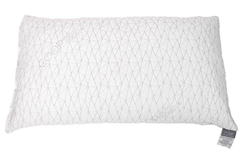 Improved Design - Adjustable Shredded Memory Foam Pillow with Viscose Rayon Cover derived from Bamboo - Removable Case - Coop Home Goods - Made in USA -Queen