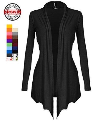 DRSKIN-Womens-Open-Front-Long-Sleeve-Knit-Cardigan-S5XL