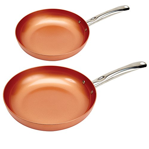 copper chef round pan- 10,12 inch 2 pack,video review,(VIDEO Review) Copper Chef Round Pan- 10 and 12 Inch 2 Pack,