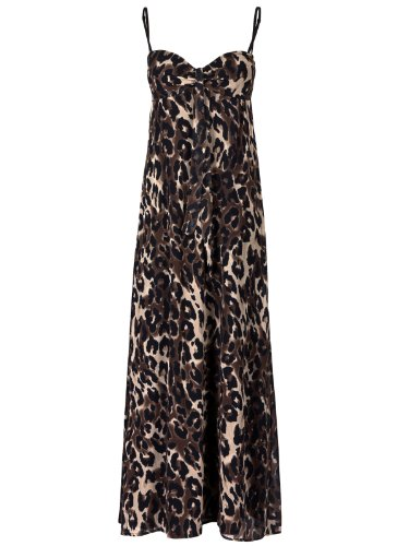 FourFlavor Langes Abendkleid im Leoparden-Look