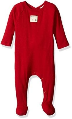 Burts-Bees-Baby-Baby-Busy-Organic-Union-Suit-Cranberry-Rib-3-6-Months