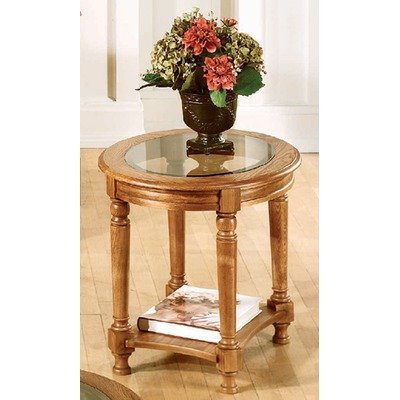 Buy low price marion county round end table in ginger oak for 1 oak las vegas table prices