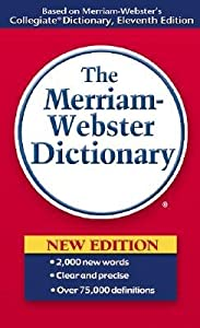 "Cover of ""Merriam Webster Dictionary"""