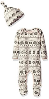 Burts-Bees-Baby-Baby-Organic-Lap-Shoulder-Coverall-and-Knot-Top-Hat-Set