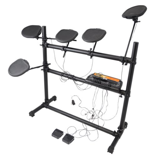 PYLE-PRO PED03 Electronic Drum Set with 5 Pads, 2 Pedals, Natural Response Cymbals and Drums