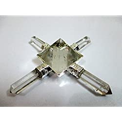 Exquisite Crystal Quartz Pyramid Energy Generator Conical 4 Points Wow Healing Reiki Sacred Gift Pyramid Generator Crystal Pencil Point Programmable Divine Spiritual Crystal Therapy Massage Positive Energy Mental Peace Love Strength Psychic Awareness Family Bonding X-mas Christmas Gift Business Success Vastu Progress Prosperity Power Confidence Booster Mothers Day Fathers Day Best Result Top Quality A++ Grade Best Seller Worldwide India Asia