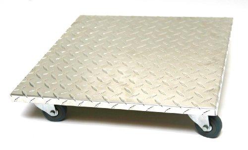 Möbelroller /Pflanzenroller 50x50 cm, Alu, 100 kg, PU-Rolle