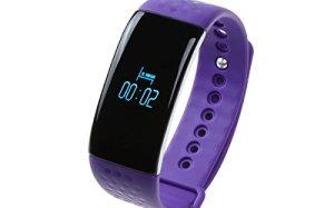 idealink K1 Bluetooth 4.0 Waterproof Sport Bracelet SmartWatch Heart Rate & Dynamic Blood Oxygen & Sleep Monitor Fitness Tracker Pedometer with OLED Display(purple)