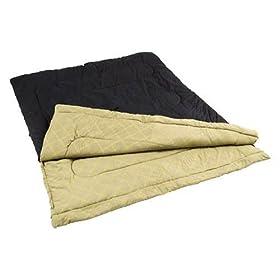 Coleman Hibernation 40-Degree Rectangular Queen Size Sleeping Bag (Black)