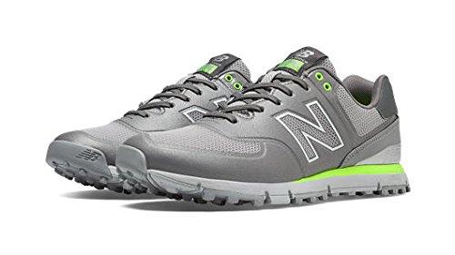 New Balance Men's NBG574B Spikeless Golf Shoe, Grey/Yellow, 9 D US