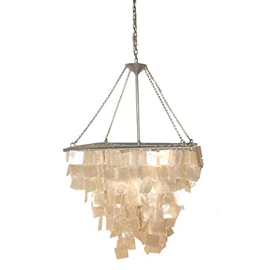Product Image Square Capiz Shell Chandelier