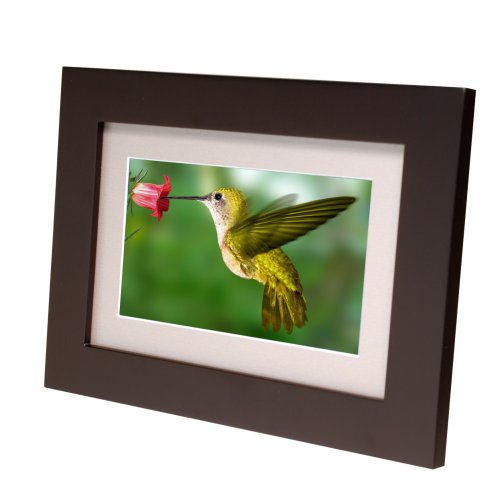 Smartparts SP72 7-Inch Digital Picture Wood Frame with Beige Matting