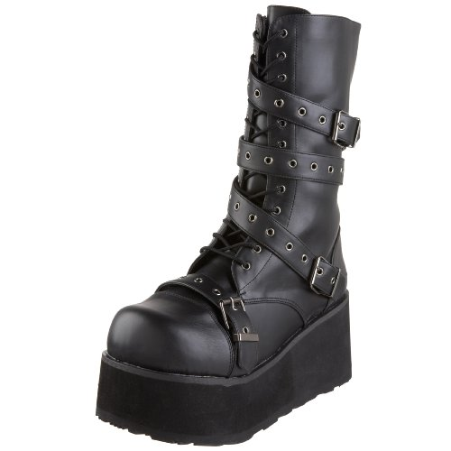 Demonia by Pleaser Men's Trashville-205 Buckle Boot,Black PU,10 M US