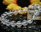 厄除け お守り 六字真言 水晶 大玉10mm 彫刻水晶ブレスレット ファッションメンズ