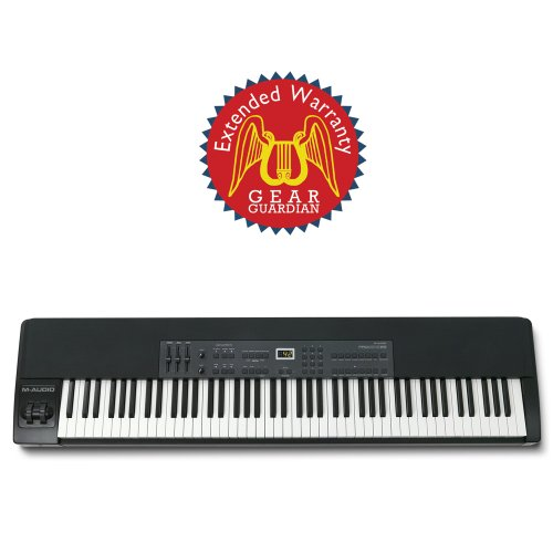 M-Audio ProKeys 88 88-Key Graded Hammer-Action Premium Stage Piano with Gear Gurdian Extended Warranty