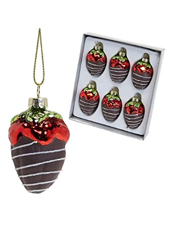Chocolate Covered Strawberry Christmas Ornament