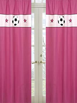 Girls Soccer Window Treatment Panels by Sweet Jojo Designs