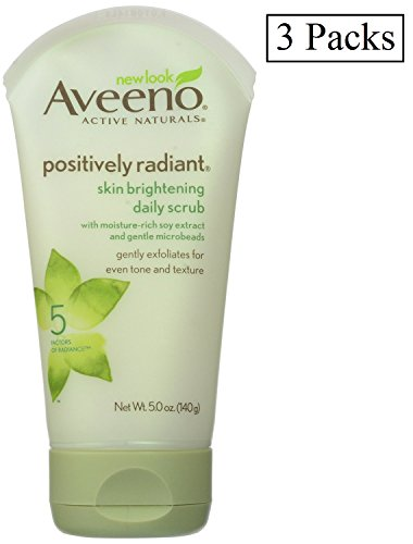 Radiant Skin Positively Aveeno 5 Ounce Scrub Daily Brightening