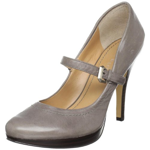 Nine West Women's Teen Mary Jane Pump,Grey Leather,7.5 M US