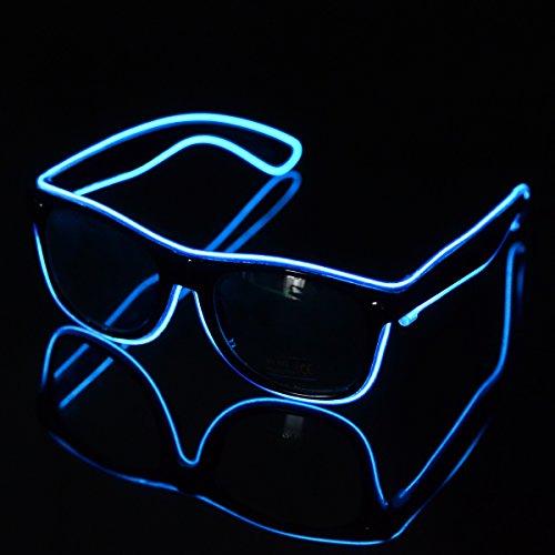 El Wire LED Light up Shutter Glasses for Party Concert
