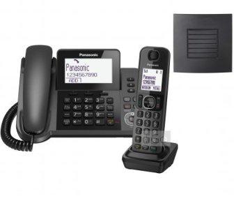 Panasonic KX-TGF320E - Teléfono (DECT, Desk/Wall, Negro, LCD, AAA, 1,88 - 1,9...