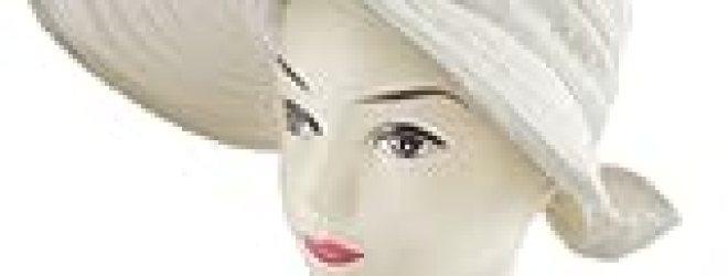 Allegra K Lady Bowknot Decor Loop Fastener Strap Poke Bonnet Lierihattu Hat Ivory
