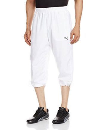 Puma Men's Polyester Track Pants (4056205241638 83971702 Medium White)