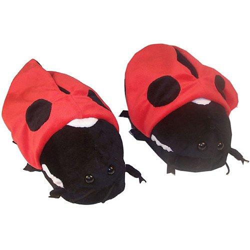 Comfy Feet Ladybug Slippers Large 8 To 9.5