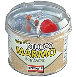 Arexons 42111 Barattolo Stucco Marmo, Paglierino, 200 gr