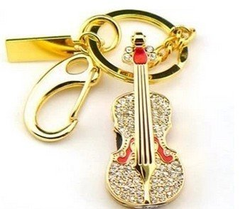 Newdigi® Shiny Crystal Diamond Guitar USB Flash Drive with Necklace:8gb/16gb +Gift Box