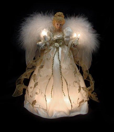 12 Lighted Cream Amp Gold Angel Christmas Tree Topper