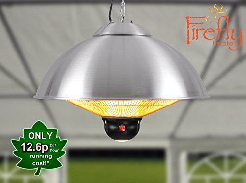 41f8qX9Y8RL - BEST BUY #1 Primrose Firefly 2.1kw Ceiling Mounted Electric Halogen Patio Heater with Three Heat Settings and Remote Control(OL1853)
