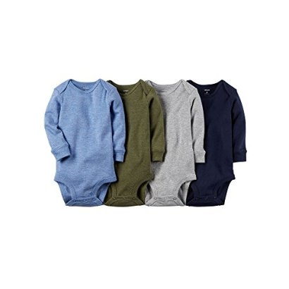 Carters-Baby-Boys-4-Pack-Heather-Bodysuits-Baby-Assorted-24M
