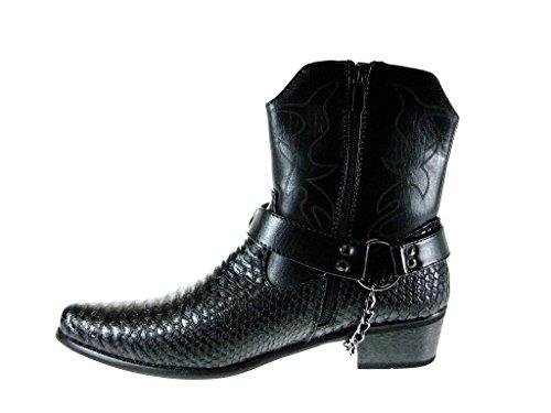 2e94e0a1f Alfa Men s M1734 Faux Snake Skin Western Cowboy Boots w  Belted ...