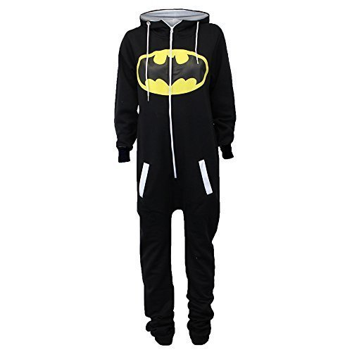 Damen Overalls Batman Superman Body All In One Sommer Overall Mit Kapuze