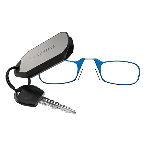 review thinoptics keychain reading glasses blue