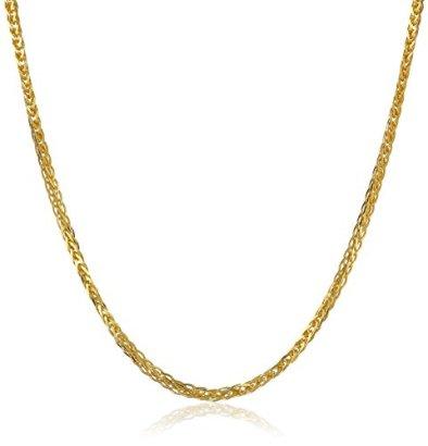14k-Gold-1mm-Diamond-Cut-Wheat-Chain-Necklace