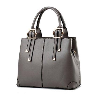 Abshoo-Fashion-Classic-Women-Purses-Satchel-Crossbody-Shoulder-Handbags-Grey