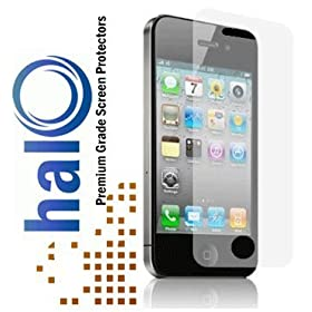 Halo Screen Protector Film Clear Matte (Anti-Glare) for iPhone 4G 4S 4 (3-Pack) - Premium Japanese Screen Protectors