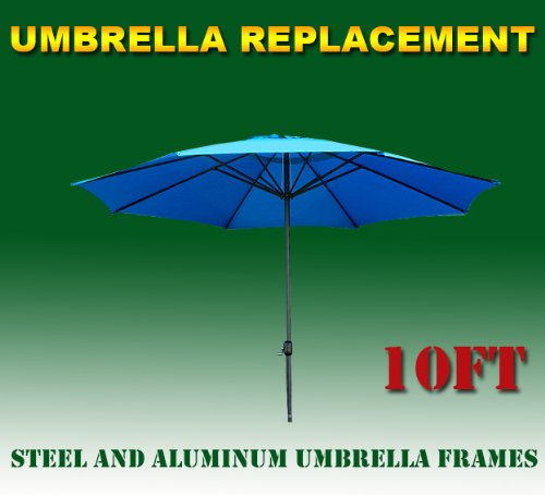 new 10 ft market patio garden umbrella replacement canopy canvas cover blue discount trong270520149