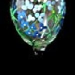 Bellissimo! Texas Bluebonnets Design Hand Painted Wine Glass – 8 Ounces