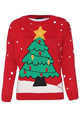 Girls Walk Unisex Novelty Knitted Christmas Jumper