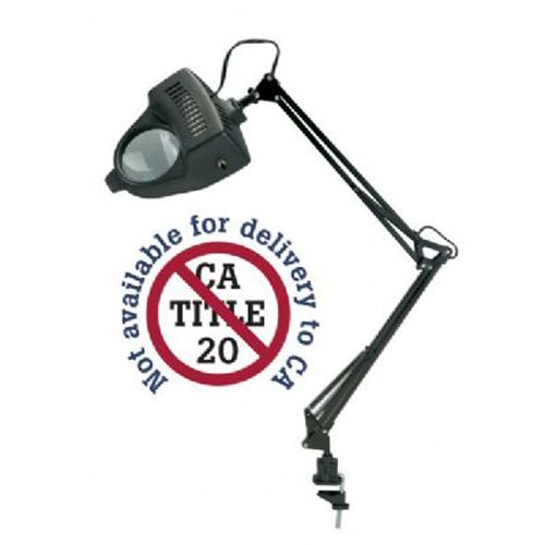 ALVIN Magnifier Swing-arm Lamp Black