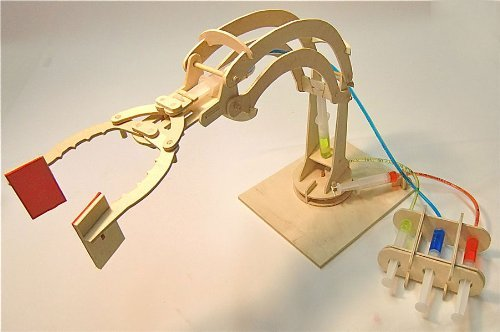 Simple Hydraulic Robotic Arm Designs : Hydraulic arm information serc home school