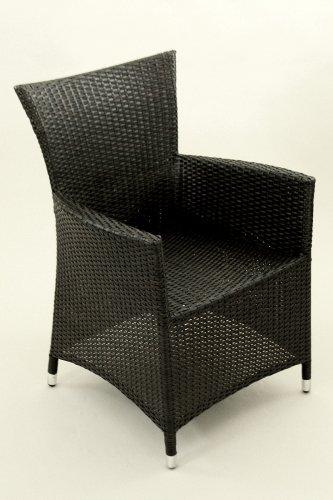 Rattan-Stuhl Sessel mit Aluminiumrahmen, dunkelbraun