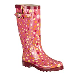 Product Image Women's Dots Spots Rain Boots - Light Berry