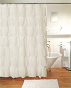 Gypsy Ruffled Shower Curtain Cream 70
