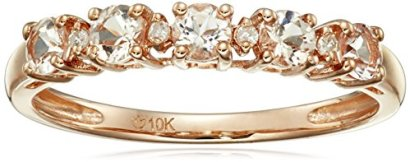 10k-Rose-Gold-Morganite-and-Diamond-Accented-Stackable-Ring-Size-7